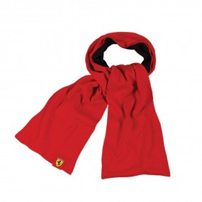 KNITTED SCARF RED/BLACK