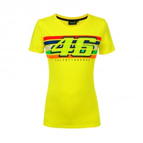 VR 46 T-Shirt Donna a Righe...
