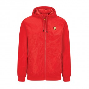 Scuderia Ferrari F1 Men's Perforated Windbreaker with Zip and Hood